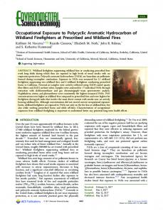 Occupational Exposure to Polycyclic Aromatic ... - ACS Publications