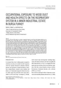 occupational exposure to wood dust and health ... - Semantic Scholar