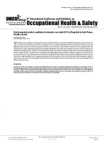 Occupational Health & Safety - OMICS Group