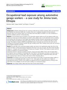 Occupational lead exposure among automotive ... - Semantic Scholar