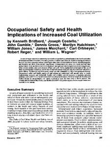 Occupational Safety and Health Implications of ... - BioMedSearch
