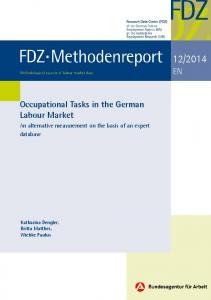 Occupational Tasks in the German Labour Market - An ... - Doku.iab....