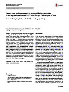 Occurrence and assessment of organochlorine ... - Springer Link