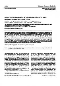 Occurrence and assessment of veterinary antibiotics in ... - Springer Link