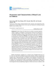 Occurrence and Characteristics of Head Cysts in