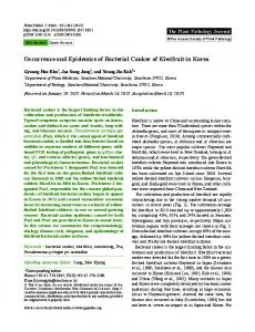 Occurrence and Epidemics of Bacterial Canker of