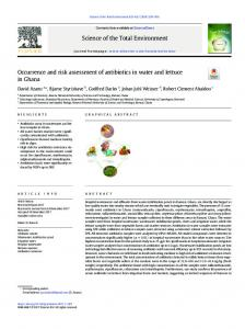 Occurrence and risk assessment of antibiotics in