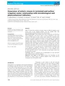 Occurrence of enteric viruses in reclaimed and surface irrigation water ...