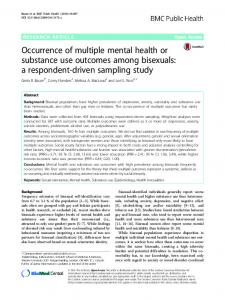 Occurrence of multiple mental health or substance use ... - Springer Link