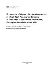Occurrence of Organochlorine Compounds in Whole Fish Tissue from ...