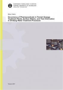 Occurrence of Pharmaceuticals in Finnish Sewage Treatment Plants ...