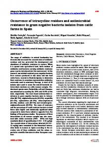 Occurrence of tetracycline residues and antimicrobial resistance in ...