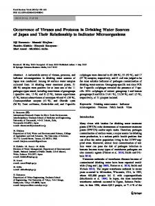Occurrence of Viruses and Protozoa in Drinking Water Sources of ...
