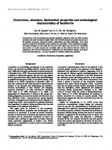 Occurrence, structure, biochemical properties and ... - Semantic Scholar