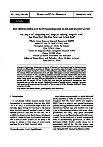 Ocean and Polar Research Sex Differentiation and Early ... - CiteSeerX