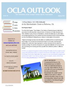 OCLA Outlook - Chapman University