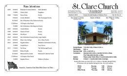 Oct6Bulletin - St Clare Catholic Church