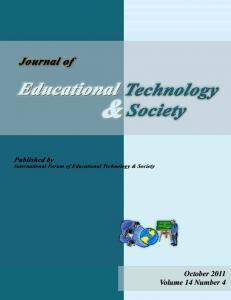 October 2011 Volume 14 Number 4 - Educational Technology & Society