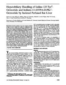 Octreotide by Isolated Perfused Rat Liver - Journal of Nuclear Medicine