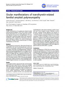 Ocular manifestations of transthyretin-related familial amyloid ...