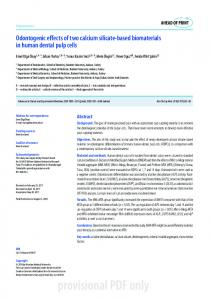 Odontogenic effects of two calcium silicate-based