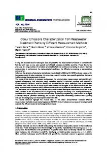 Odour Emissions Characterization from Wastewater Treatment ... - aidic