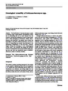 Oenological versatility of Schizosaccharomyces spp. - Springer Link