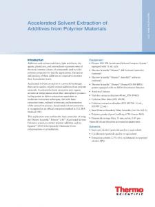 of Additives from Polymer Materials - Dionex