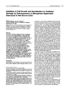 of Cell Growth and Sensitization to Oxidative Damage by ... - CiteSeerX