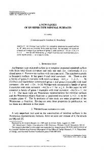 of enneper type minimal surfaces - American Mathematical Society