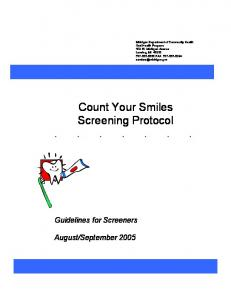 Of Public Count Your Smiles Screening Protocol . . . . . . .