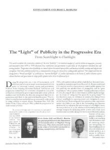 of Publicity in the Progressive Era