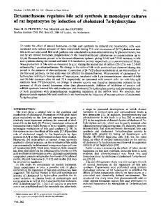 of rat hepatocytes by induction of cholesterol 7a ... - Europe PMC
