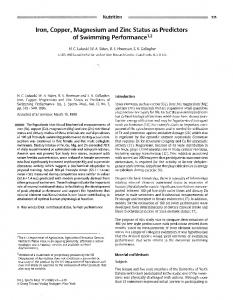 of Swimming Performance - National Agricultural Library Digital ...