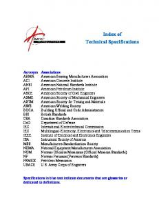 Of Technical Specifications - Ahoratranslations.com