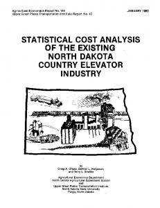 of the existing north dakota country elevator industry - AgEcon Search