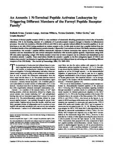 of the Formyl Peptide Receptor Family Members Leukocytes by ...