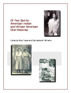 Of Two Spirits: American Indian and African American Oral Histories