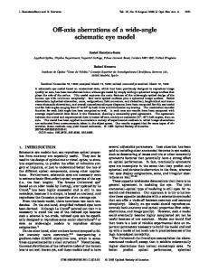Off-axis aberrations of a wide-angle schematic eye model