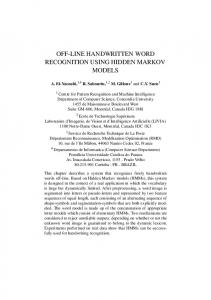 off-line handwritten word recognition using hidden markov models