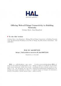 Offering Web-of-Things Connectivity to Building Networks - Hal