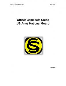 Officer Candidate Guide US Army National Guard