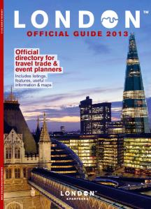 OFFICIAL GUIDE 2013 - London & Partners