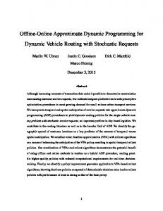 Offline-Online Approximate Dynamic Programming for Dynamic