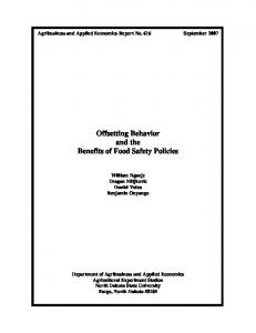 Offsetting Behavior and the Benefits of Food Safety ... - AgEcon Search