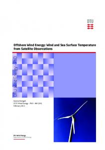 Offshore Wind Energy: Wind and Sea Surface