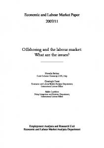 Offshoring and the labour market - ILO