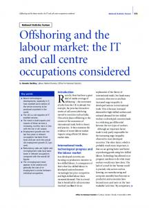 Offshoring and the labour market: the IT and call centre occupations ...