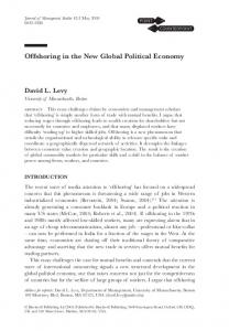 Offshoring in the New Global Political Economy