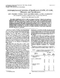 Ofloxacin, and Ciprofloxacin - Antimicrobial Agents and Chemotherapy